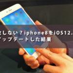失敗しない?iphone8をiOS12.0.1にアップデートした結果