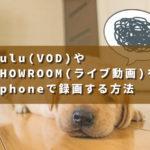 Hulu(VOD)やSHOWROOM(ライブ動画)をiphoneで録画する方法